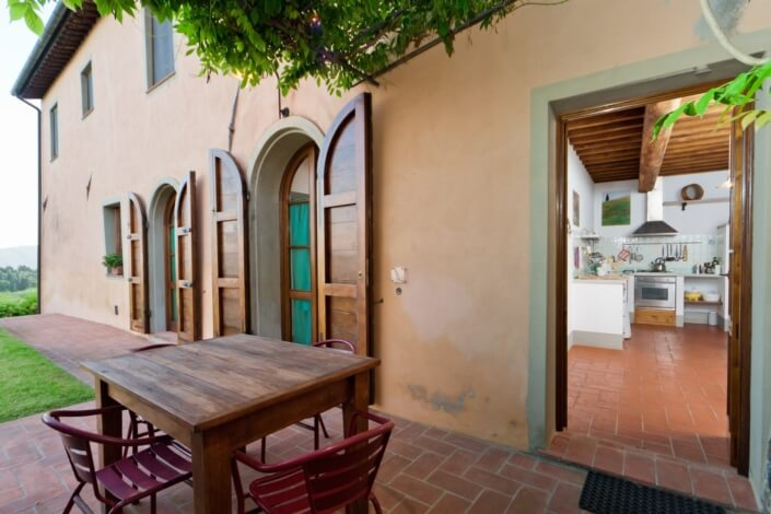 Il Gelso - View from Kitchen terrace